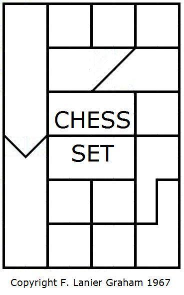 Interlocking chess pieces by F. Lanier Graham, 1967