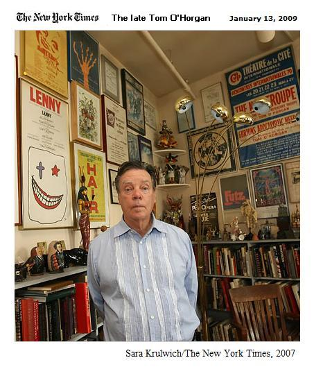 Tom O'Horgan in his loft. O'Horgan died Sunday, Jan. 11, 2009.