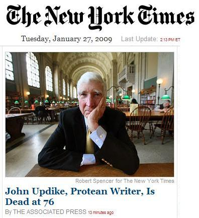 NY Times: Updike is dead.