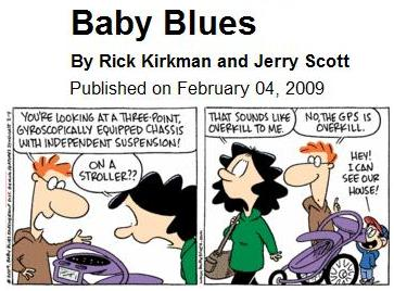 Baby Blues cartoon on global positioning systems