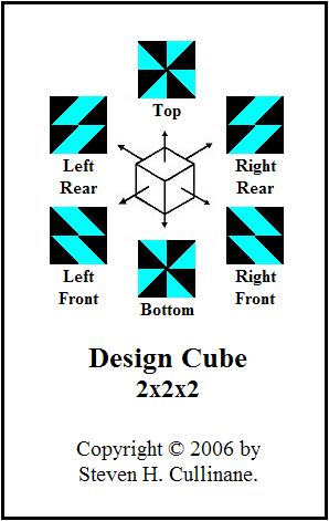 Design Cube 2x2x2 for demonstrating Galois geometry