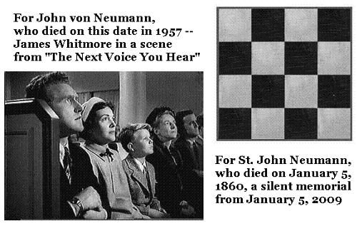 Memorial sermon for John von Neumann, who died on Feb. 8,  1957