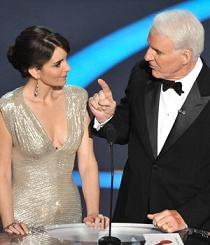 Tina Fey and Steve Martin at the 2009 Oscars