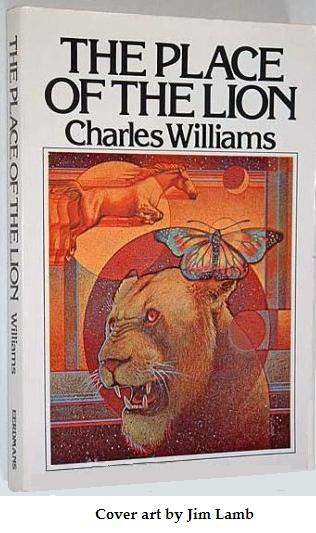 Cover by Jim Lamb for 'The Place of the Lion,' Eerdmans 1979 paperback, ISBN-10 0802812228