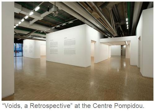 'Voids, a Retrospective,' at the Centre Pompidou in Paris. Photo from NY Times.