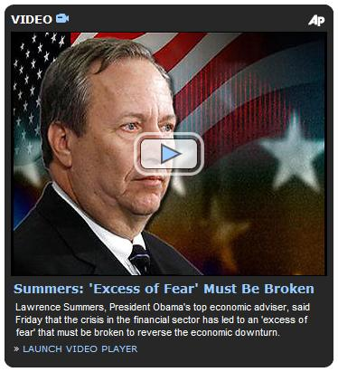 Washington Post video of Lawrence Summers on emotion and finance