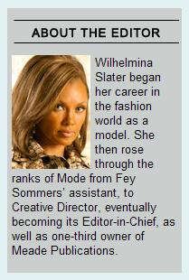 Wilhelmina Slater, MODE editor-in-chief