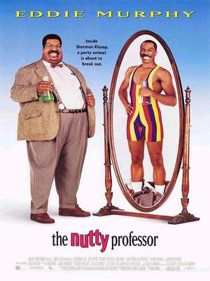 Eddie Murphy and mirror image in remake of 'The Nutty Professor'