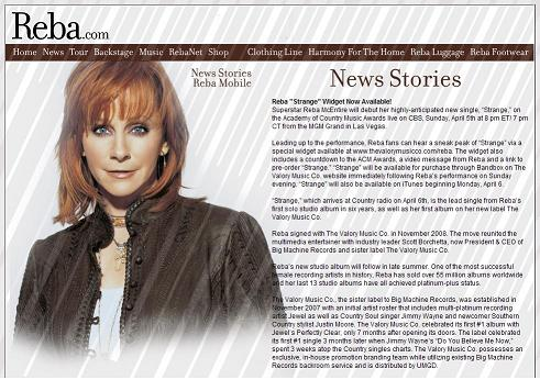 Reba McEntire to host Academy of Country Music Awards Sunday, April 5, 2009