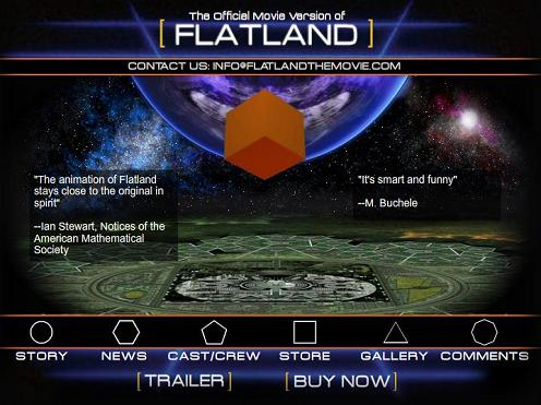 Ad for a movie of the book 'Flatland'