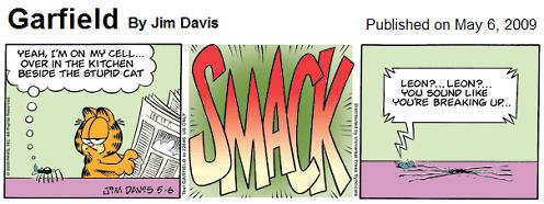 Garfield on May 6, 2009: Smackdown!