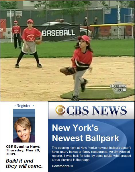 CBS Evening News-- 'New York's Newest  Ballpark'