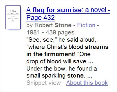 Google Book Search on Marlowe and Stone