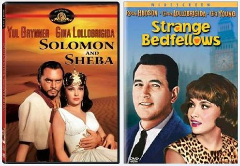 Film posters-- 'Solomon and Sheba,' 'Strange Bedfellows'