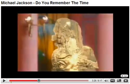 Michael Jackson entertains the Pharaoh