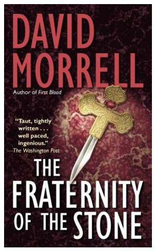 Dagger on the cover of 'Fraternity of the Stone,' by David Morrell