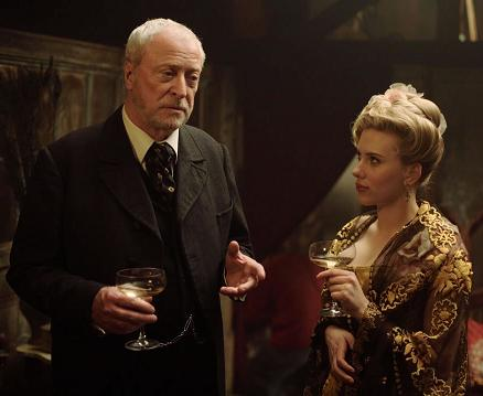 Michael Caine and Scarlett Johansson in 'The Prestige'