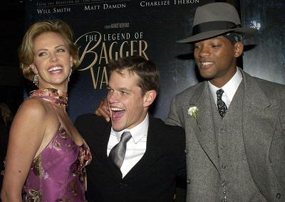 30 OCTOBER 2000- NY- Charlize Theron, Matt Damon and Will Smith at the Oct. 29, 2000, NY premiere of 'Legend Of Bagger Vance.' --Ezio Petersen UPI