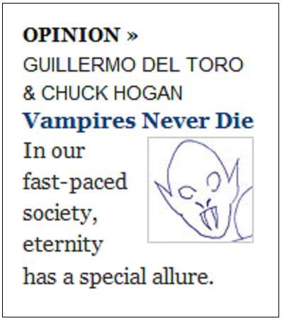 NYT teaser, 'Vampires Never Die'