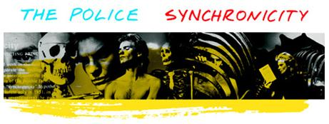 The Police, 'Synchronicity' album, detail of cover