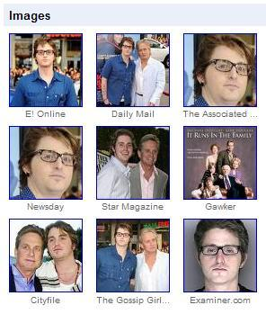 3x3 array of Cameron Douglas images from Google News, August 4, 2009