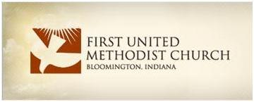 Dove logo, First United Methodist Church of Bloomington, Indiana