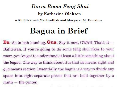 Bagua in Brief, from 'Dorm Room Feng Shui'