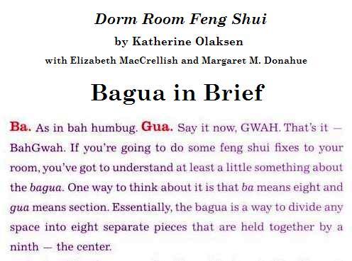 Bagua in Brief, from 'Dorm Room Feng Shui'