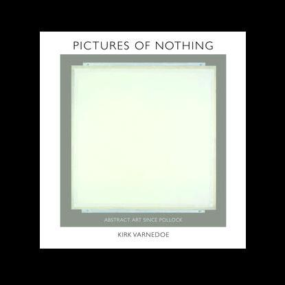 Empty canvas on cover of Varnedoe's 'Pictures of Nothing'