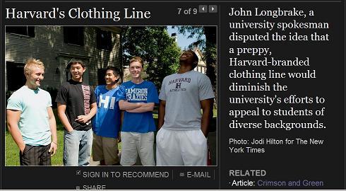 Harvard's New Line