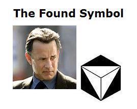 Symbologist Robert Langdon views a corner of Solomon's Cube