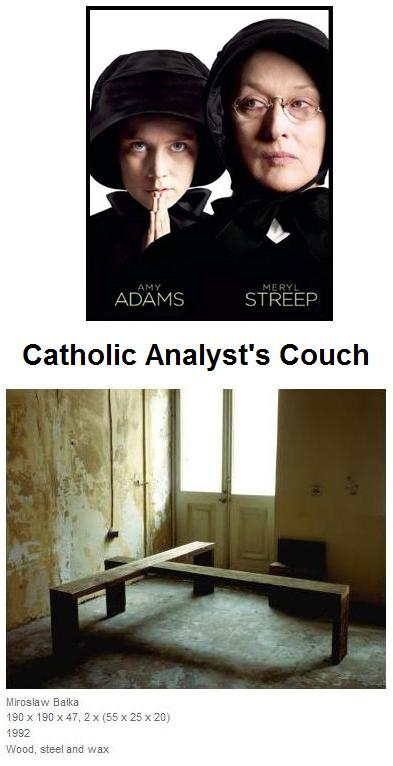 Amy Adams and Meryl Streep ('Doubt') as Catholic psychoanalysts, with their couch