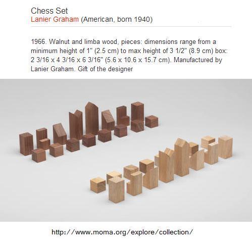 Modernist chess set, Lanier Graham, 1966