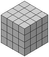 Grey cube, 4x4x4