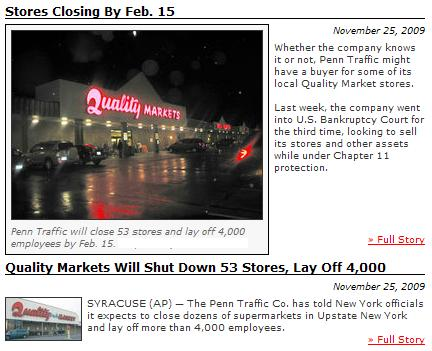 News story: Quality Markets will shut down 53 stores