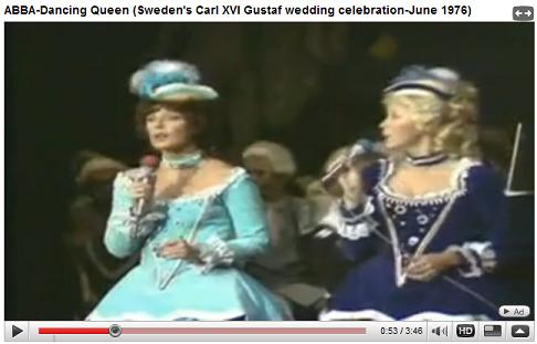 Royal Wedding in Sweden with ABBA performing Dancing Queen