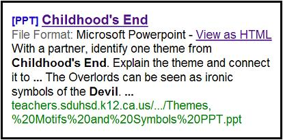 Childhood's End-- Overlords as 'ironic symbols of the Devil'