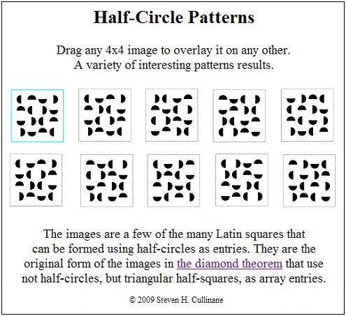 Half-Circle Patterns