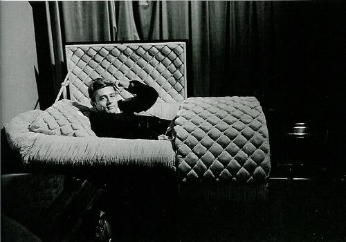 James Dean rises from coffin-- Photo by Dean Stock, LIFE magazine, 1955