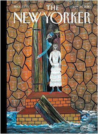 New Yorker cover on Haiti featuring Baron Samedi