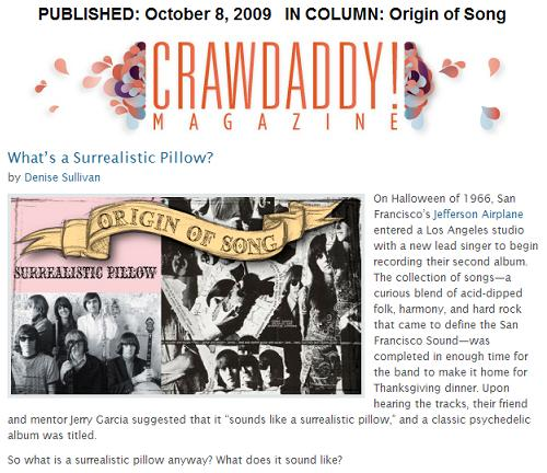 Crawdaddy article on 'Surrealistic Pillow,' the classic 1967 album by Jefferson Airplane