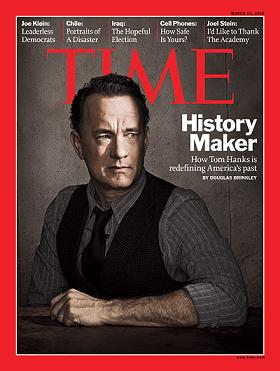 TIME Magazine cover, issue dated March 15, 2010- 'History Maker- How Tom Hanks is redefining America's past