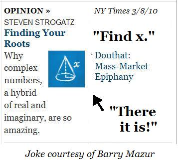 NY Times epiphany, morning of March 8, 2010