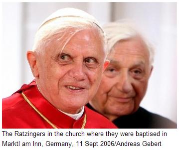 The Ratzinger brothers in Germany, Sept. 11, 2006