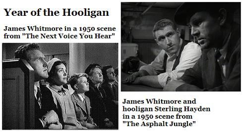 James Whitmore and Sterling Hayden in 1950-- Year of the Hooligan