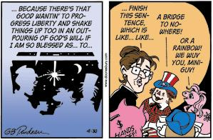 Sarah Palin and friends-- Doonesbury, April 30, 2010