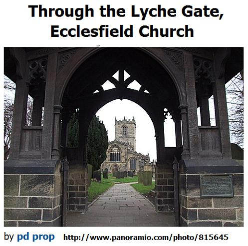 Lyche gate, Ecclesfield Church, photo by pd prop