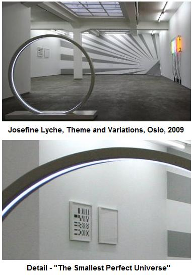 Image- Josefine Lyche work (with 1986 figures by Cullinane) in a 2009 exhibition in Oslo