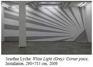 Image-- trilateral corner piece 'White Light (Grey)' by Josefine Lyche, 2009