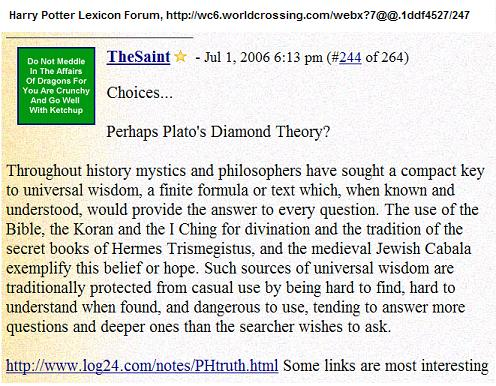 Image-- Fanfiction-- Harry Potter and Plato's Diamond